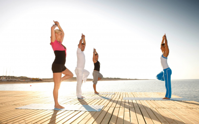 """""""Olympisches"""" Beach-Yoga in Griechenland"""